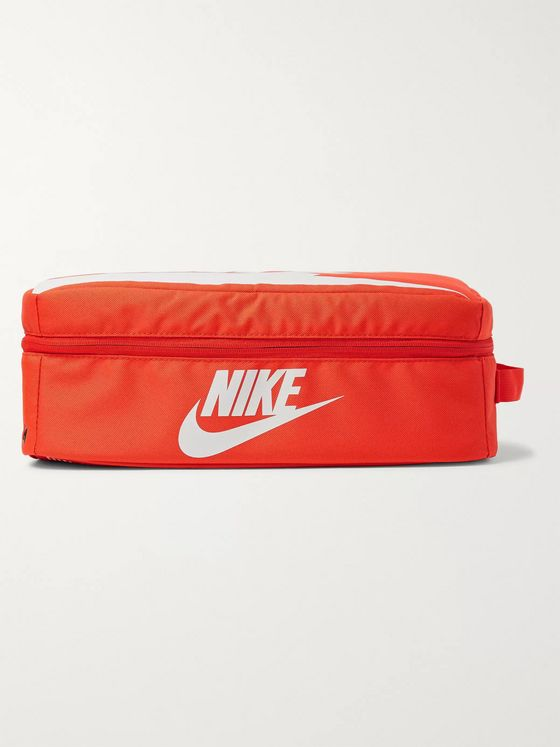 NIKE Shoebox Logo-Print Canvas Bag