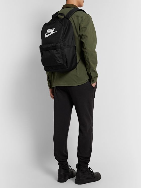 Nike Heritage 2.0 Logo-Print Canvas Backpack