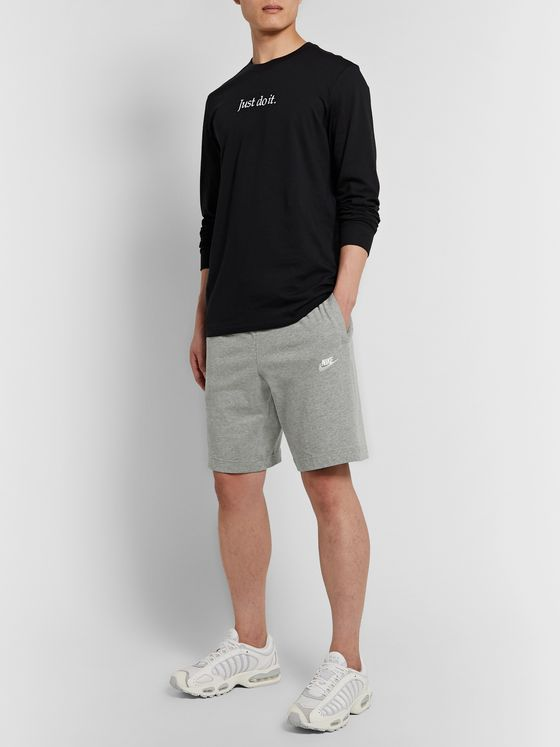 NIKE Sportswear Club Mélange Cotton-Jersey Drawstring Shorts