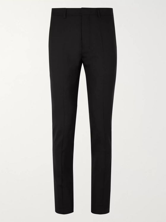AMI Slim-Fit Virgin Wool Trousers