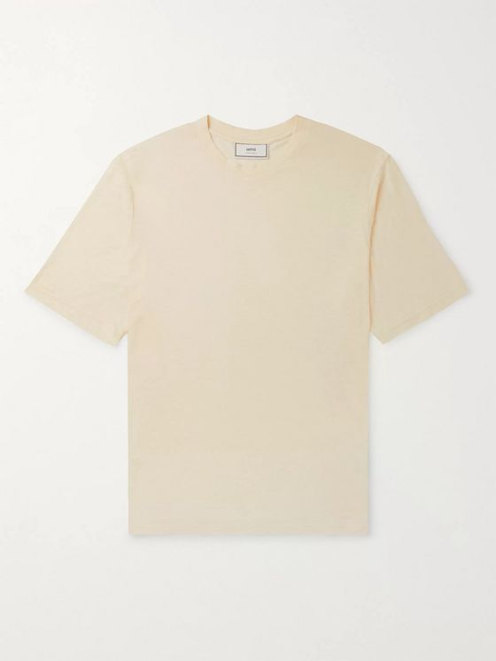 AMI Cotton-Blend Voile T-Shirt