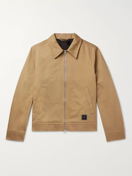 AMI Slim-Fit Cotton-Twill Blouson Jacket