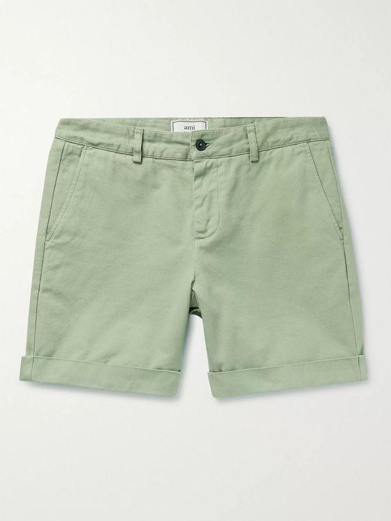 AMI Cotton-Twill Bermuda Shorts
