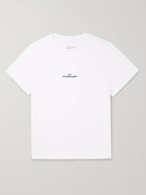 Maison Margiela Logo-Embroidered Cotton-Jersey T-Shirt