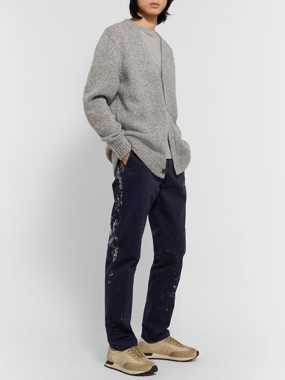 Maison Margiela Paint-Splattered Cotton-Twill Trousers