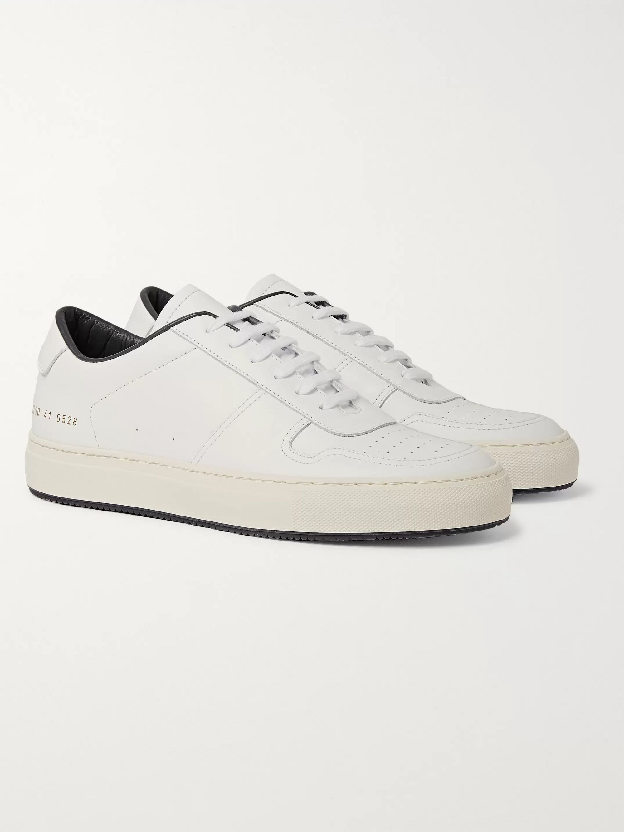 White BBall 88 Leather Sneakers