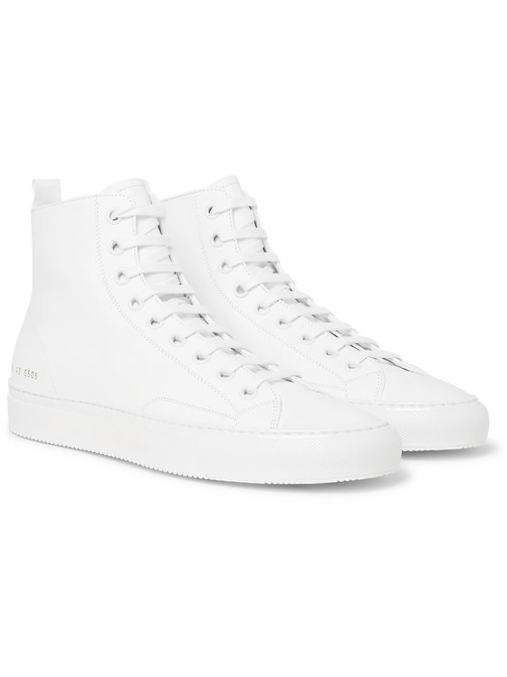 Common Projects Tournament Leather High-Top Sneakers