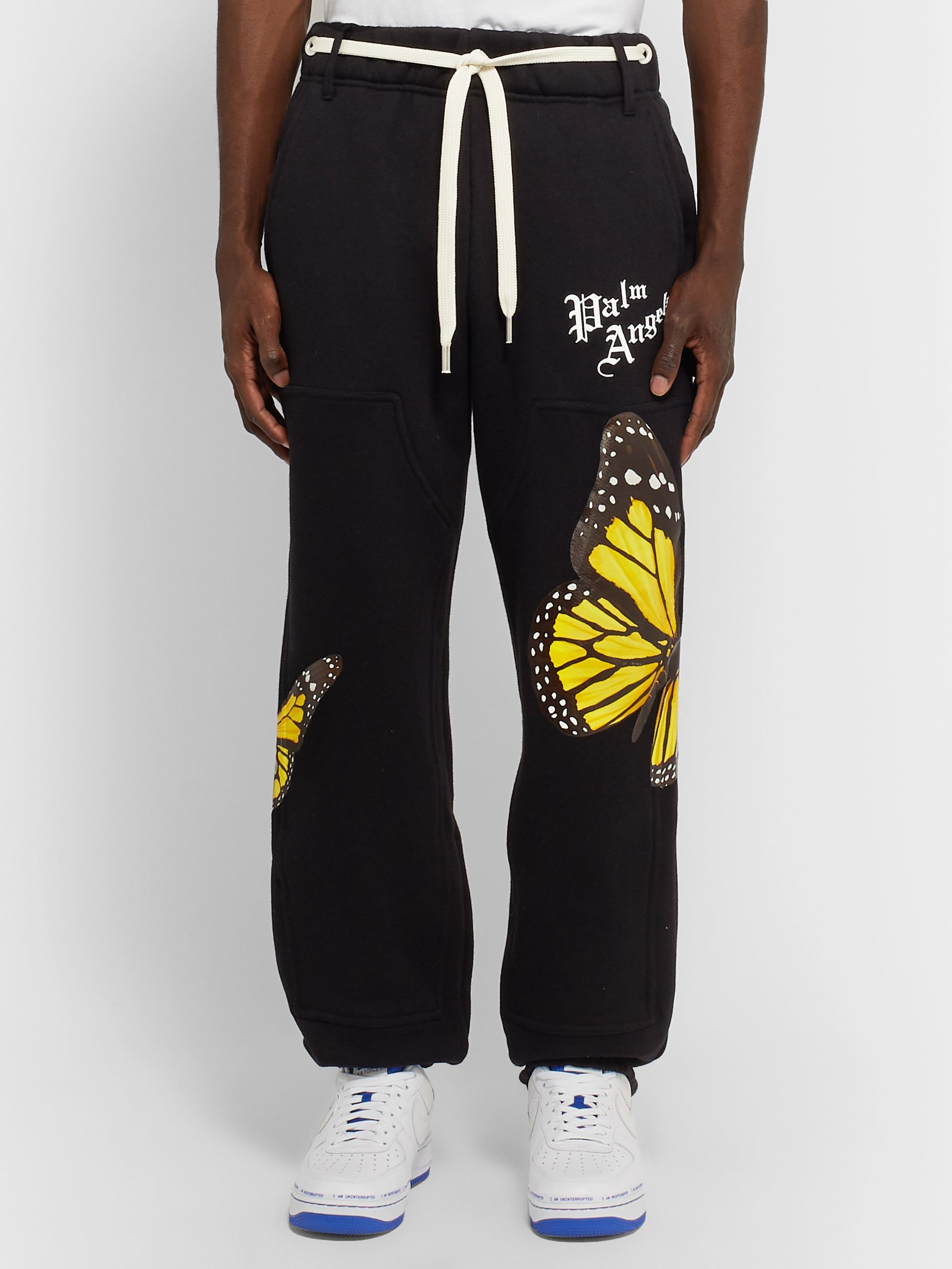Palm Angels Tapered Printed Cotton-Jersey Sweatpants