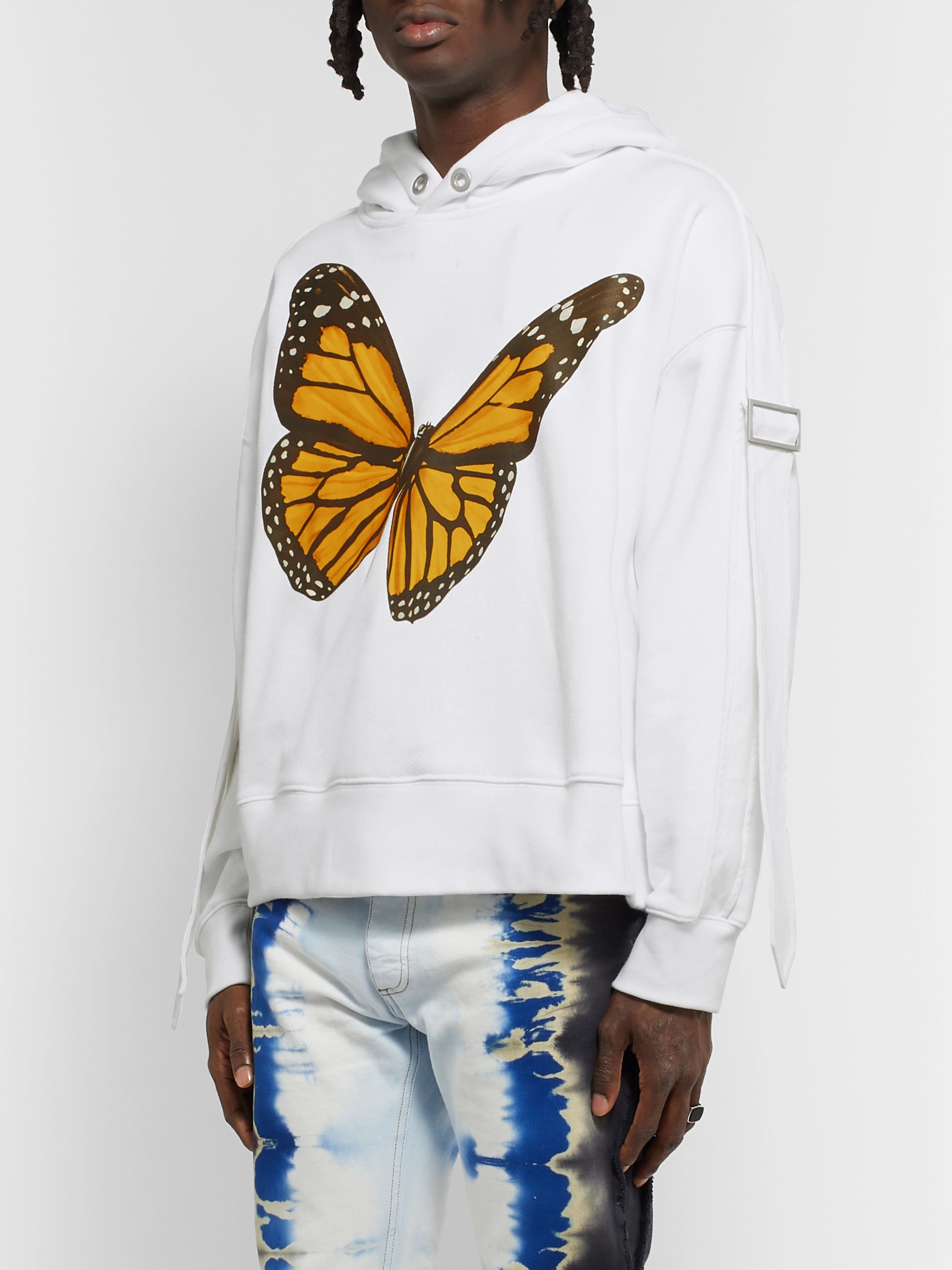 PALM ANGELS Oversized Canvas-Trimmed Printed Cotton-Jersey Hoodie