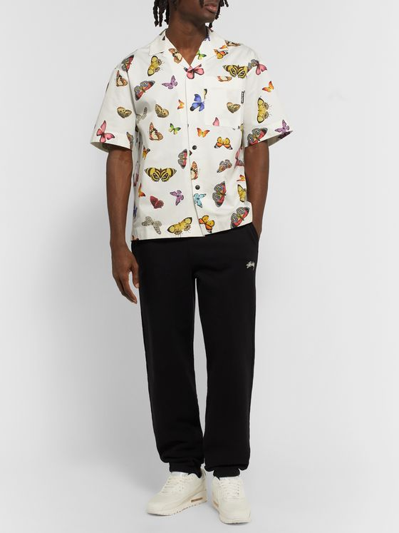 Palm Angels Camp-Collar Printed Cotton-Twill Shirt