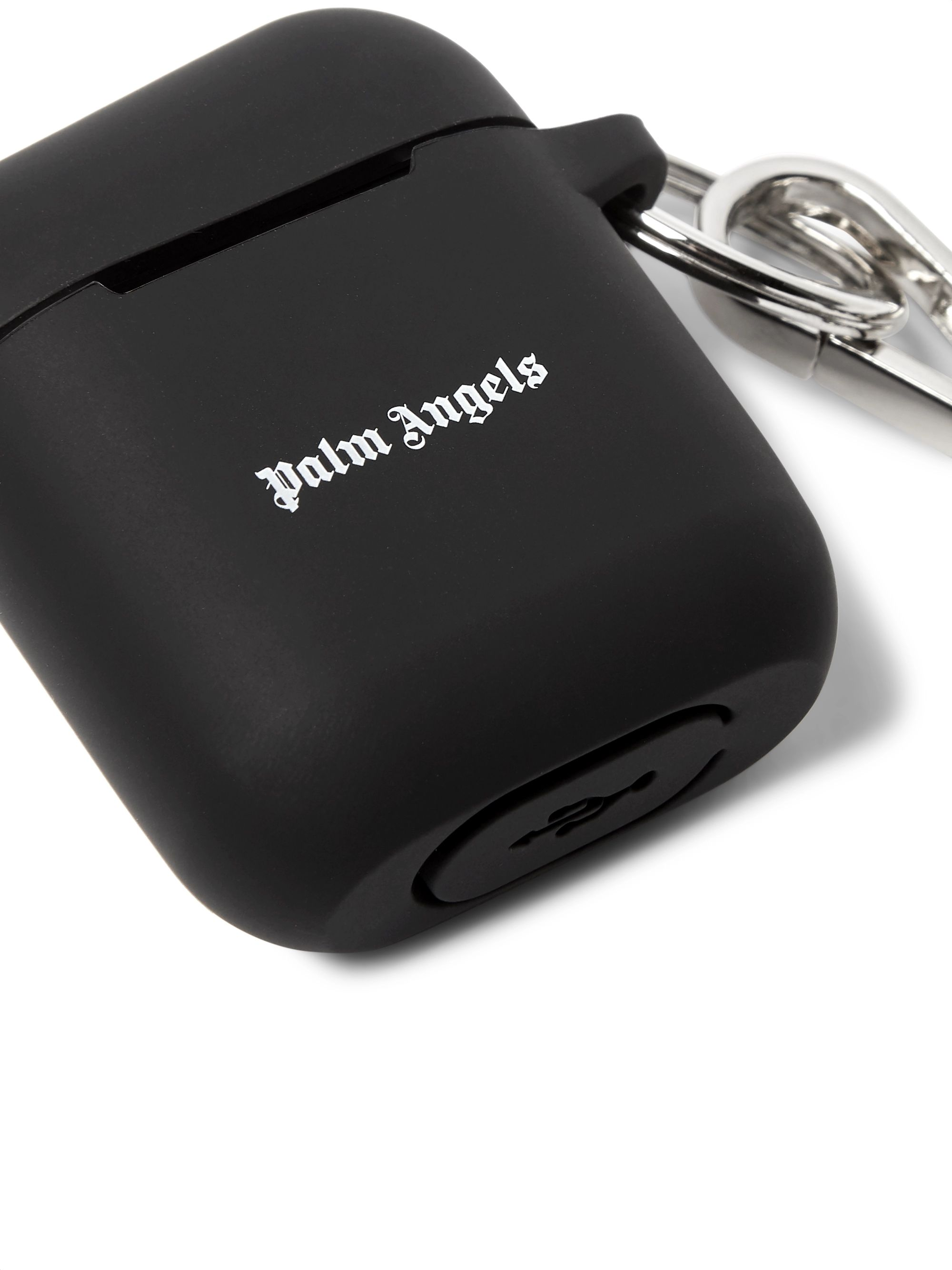 Palm Angels Logo-Print Rubber AirPods Case