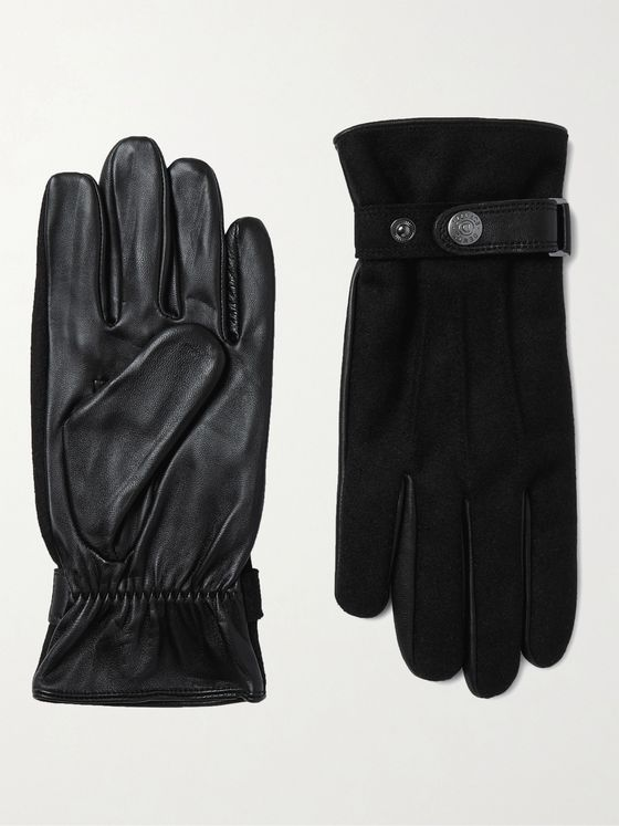 DENTS Guildford Flannel and Leather Gloves