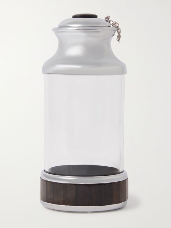 LORENZI MILANO Glass, Ebony and Stainless Steel Diffuser Bottle