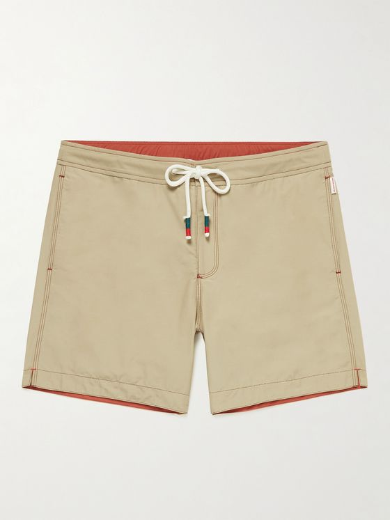 ORLEBAR BROWN Bulldog Drawcord Mid-Length Cotton-Blend Swim Shorts