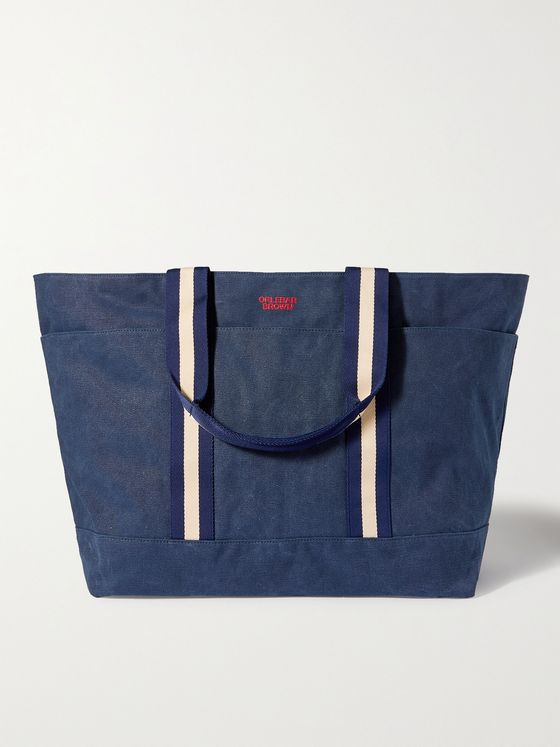 ORLEBAR BROWN Mason Webbing-Trimmed Canvas Tote Bag