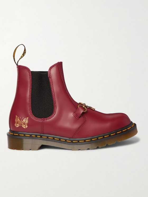 DR. MARTENS + Needles 2976 Snaffle Embellished Printed Leather Boots