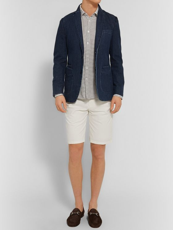 LORO PIANA Stretch-Cotton Bermuda Shorts