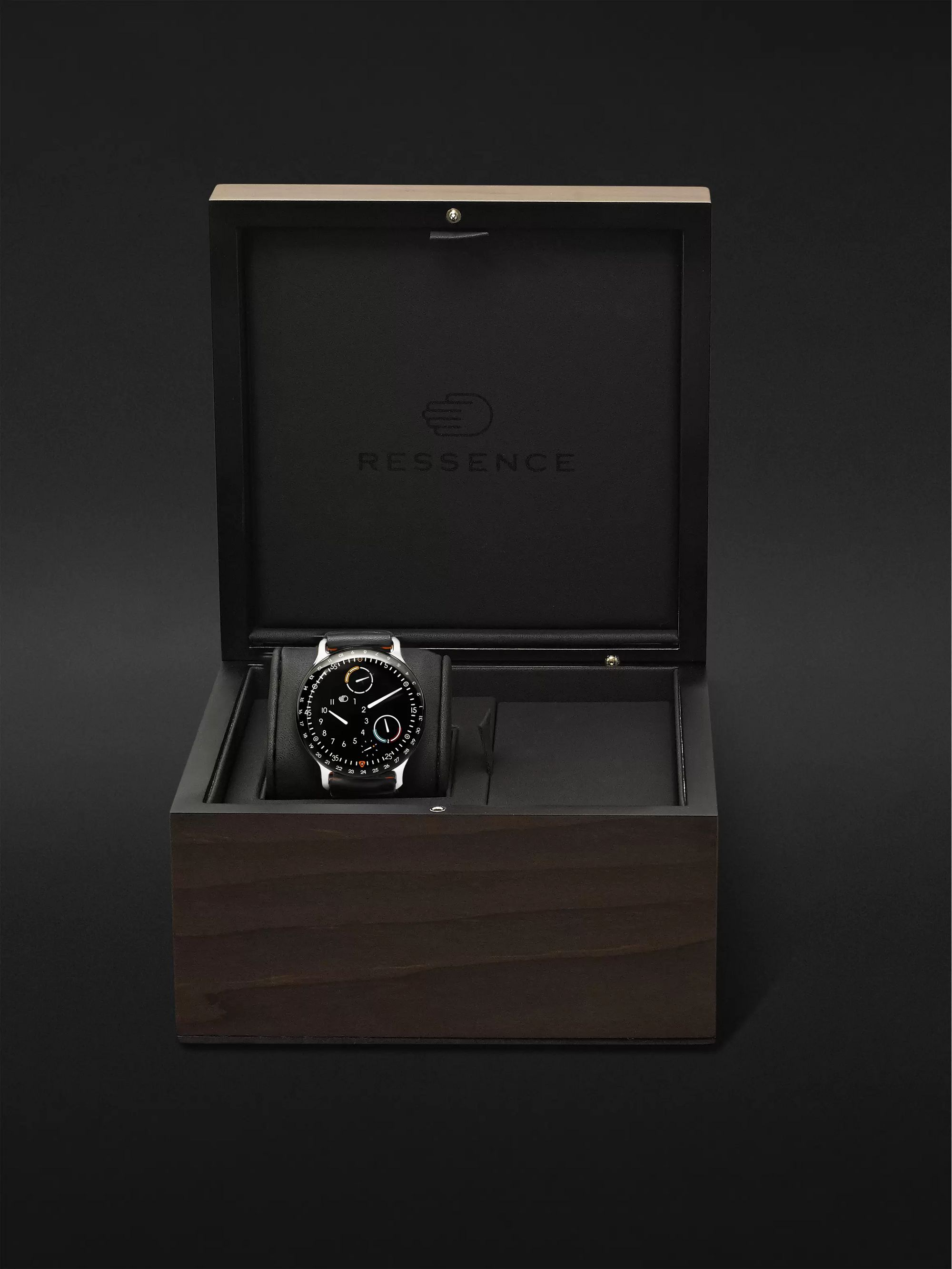 RESSENCE Type 3 Automatic 44mm Titanium and Leather Watch, Ref. No. TYPE 3