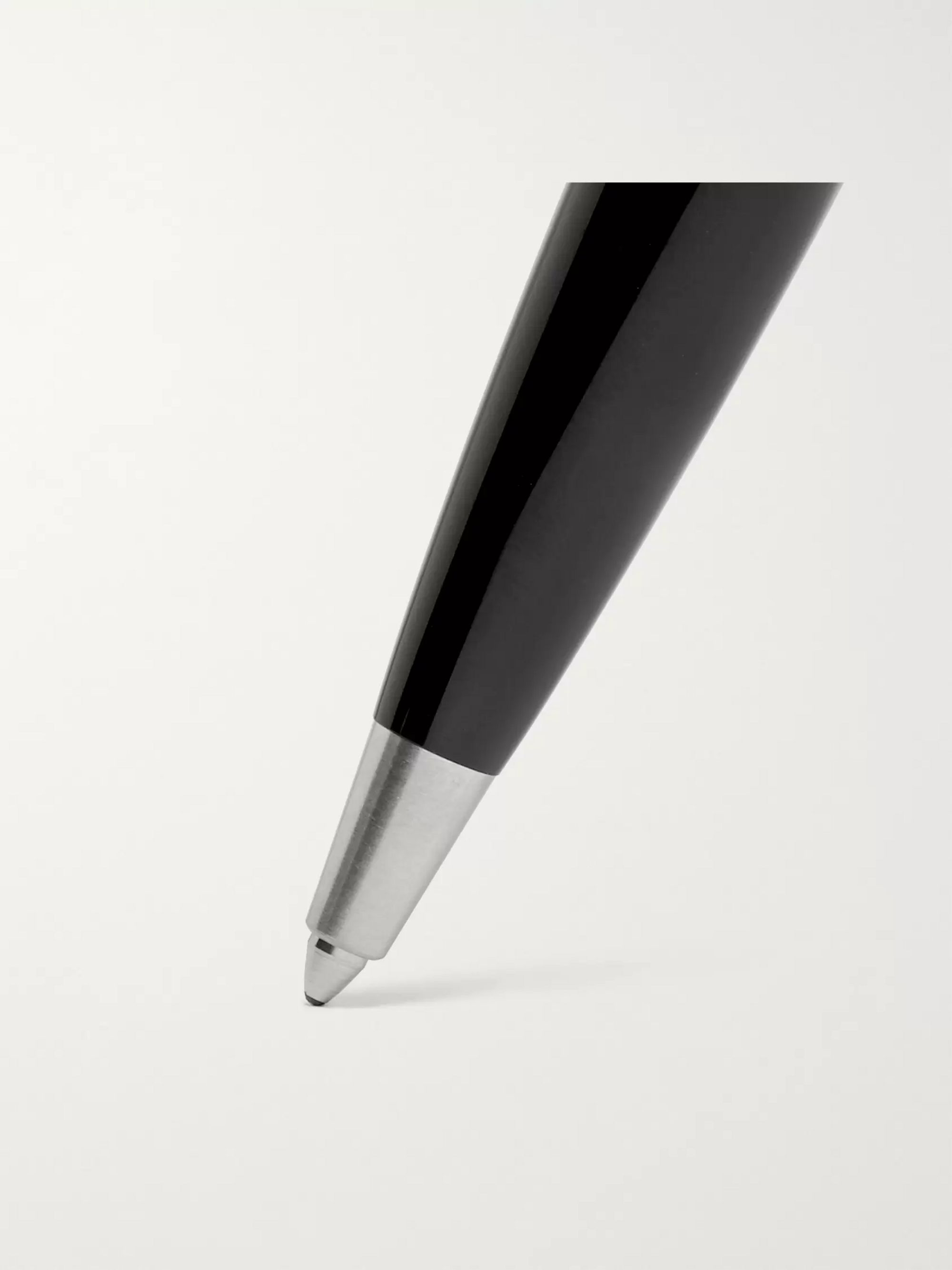 Montblanc Heritage Collection Rouge et Noir Resin and Silver-Tone Ballpoint Pen