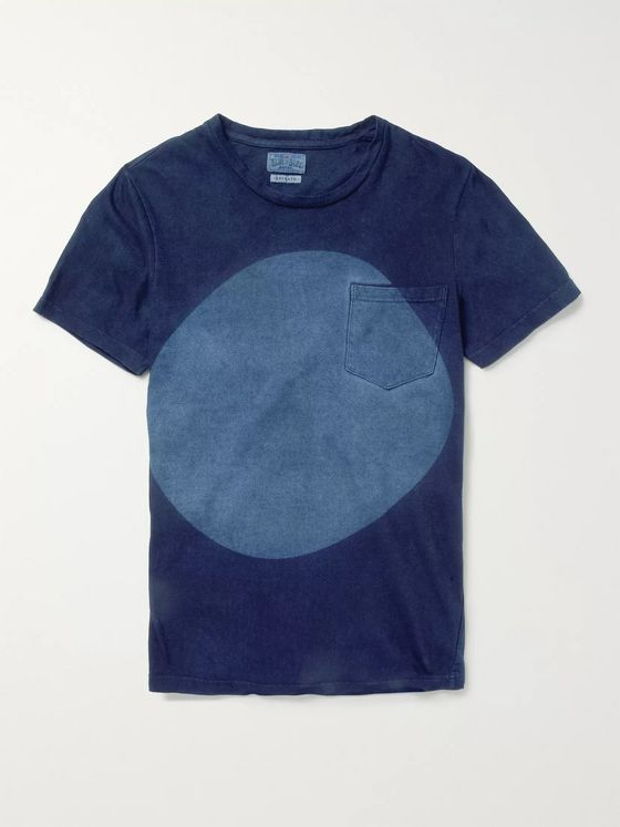 Blue Blue Japan Indigo-Dyed Cotton-Jersey T-Shirt
