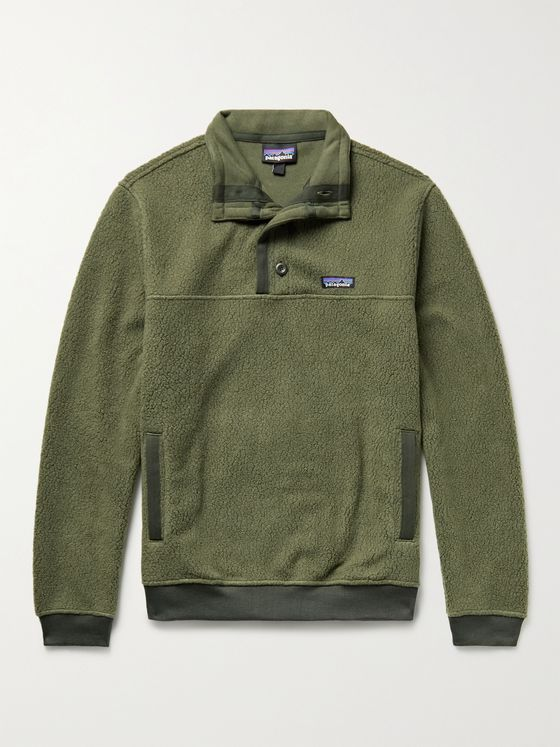 PATAGONIA Logo-Appliquéd Recycled Fleece Sweatshirt