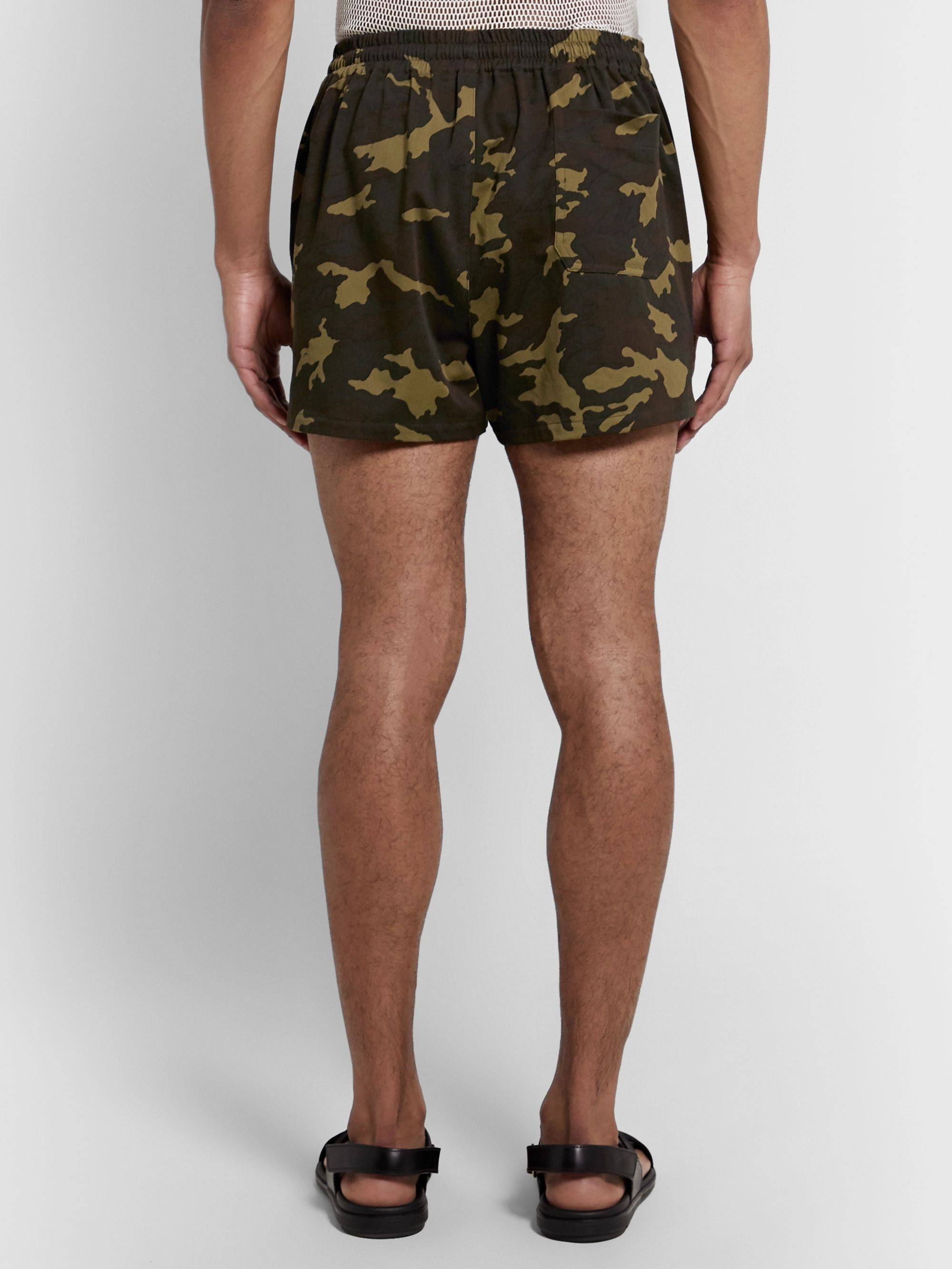 Dries Van Noten Slim-Fit Camouflage-Print Cotton-Blend Twill Shorts