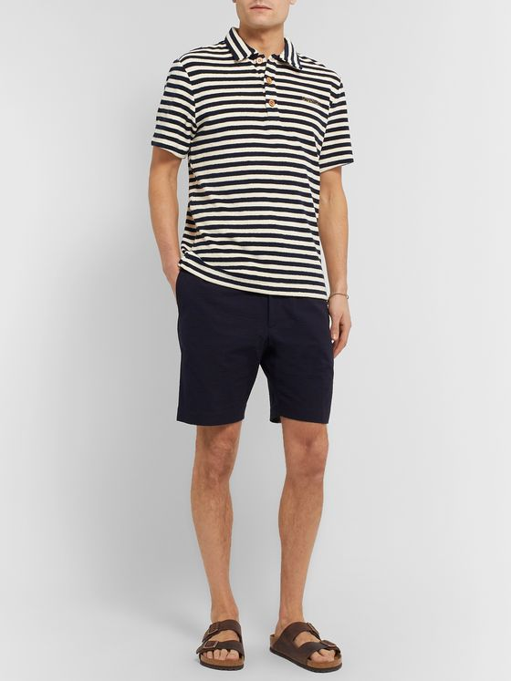 Missoni Striped Cotton-Blend Terry Polo Shirt
