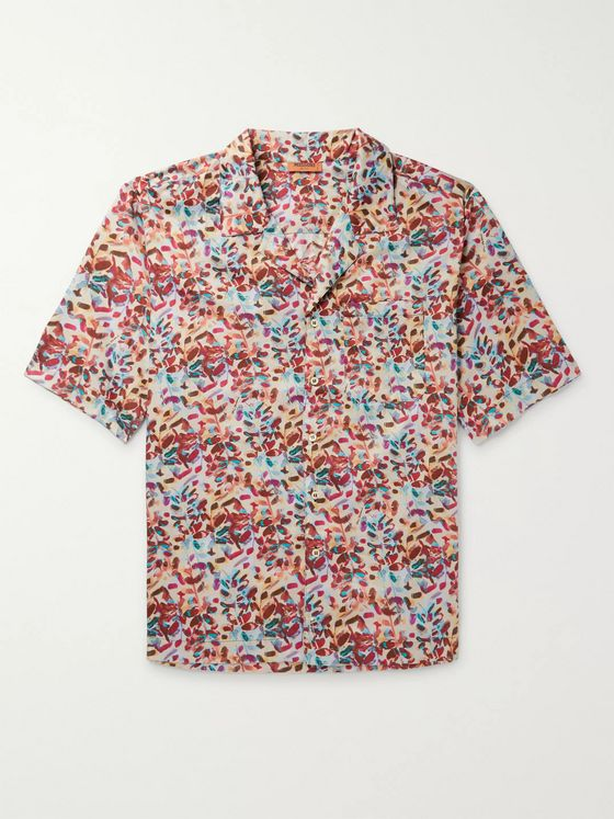 Missoni Camp-Collar Printed Cotton Shirt