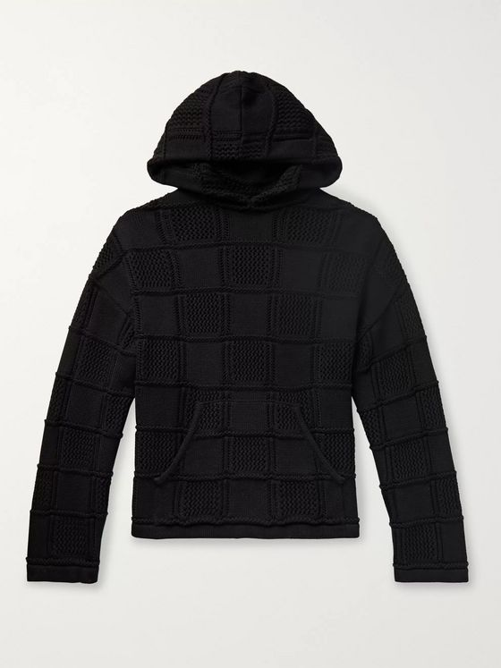 AMIRI Oversized Quilted Cotton and Cashmere-Blend Hoodie