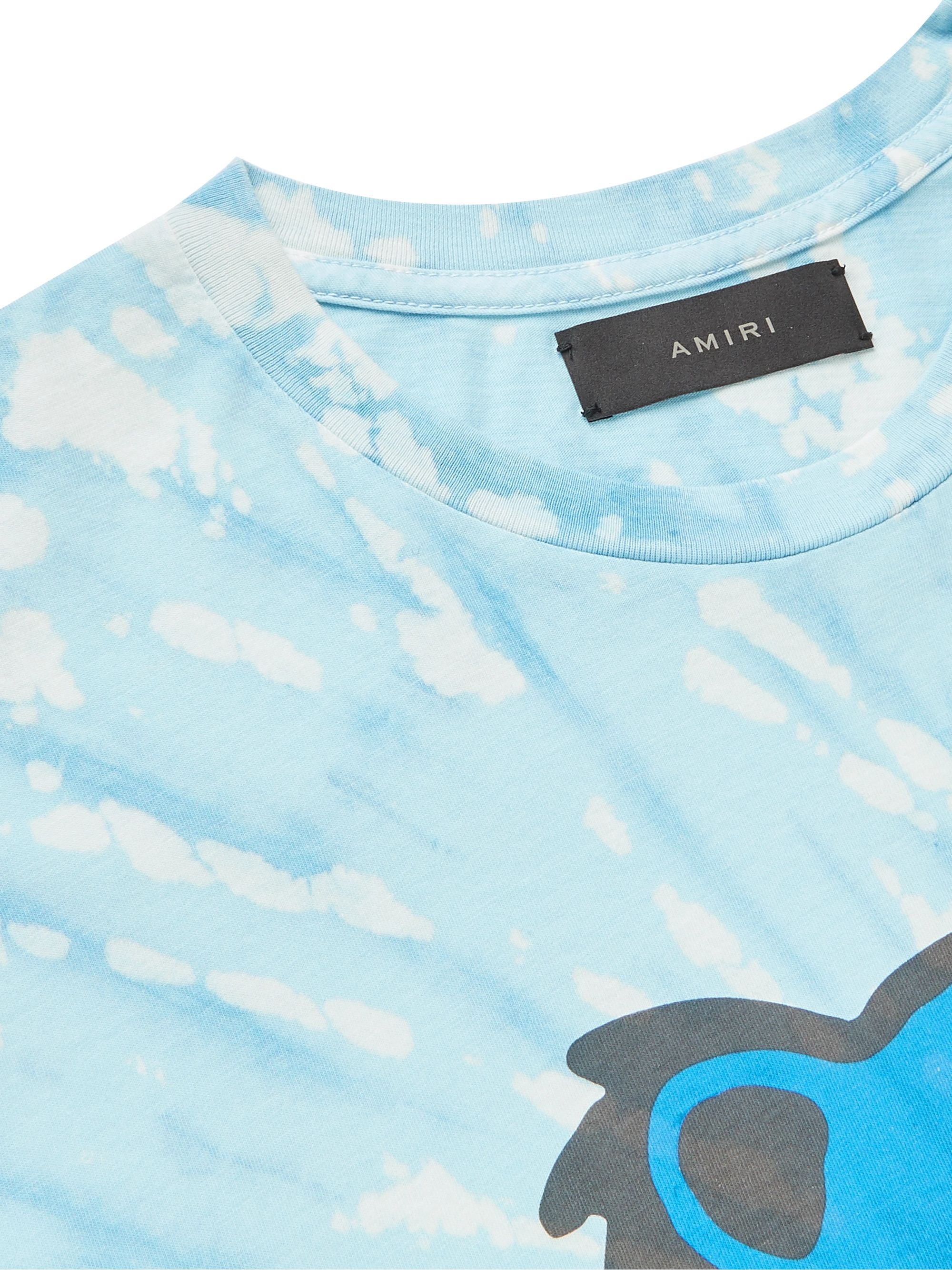 AMIRI Printed Tie-Dyed Cotton-Jersey T-Shirt