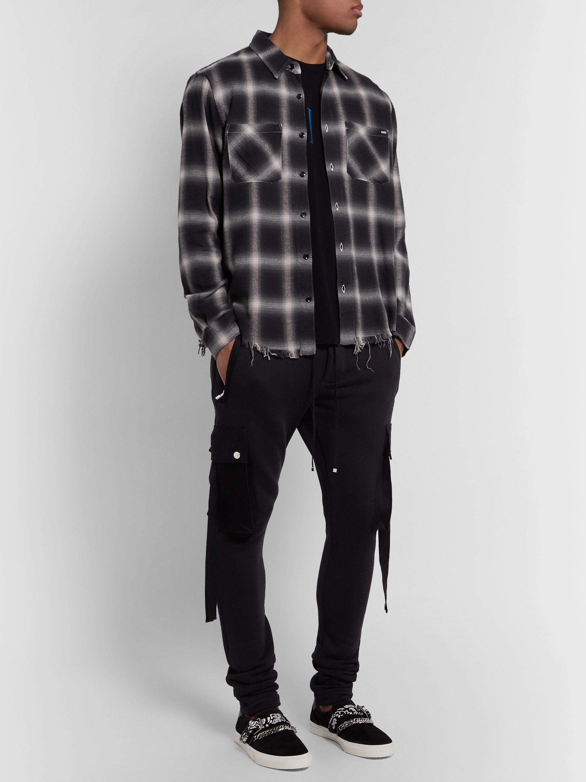 AMIRI Checked Cotton-Flannel Shirt