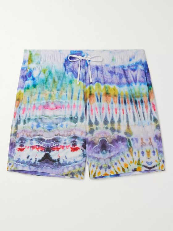 AMIRI Mid-Length Tie-Dyed Swim Shorts