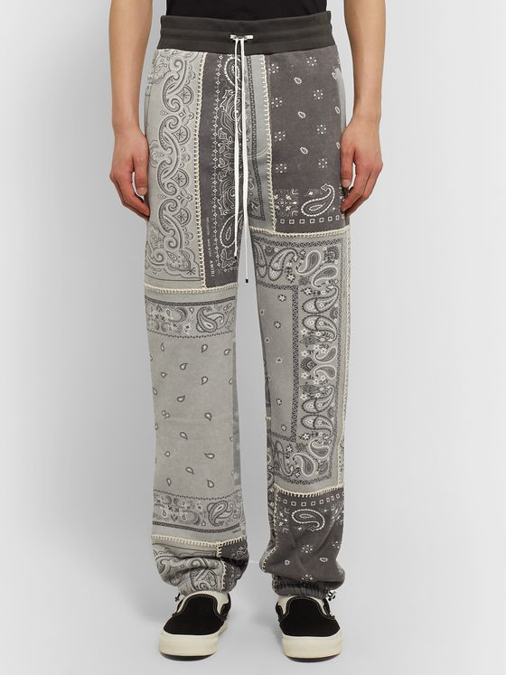 AMIRI Tapered Bandana-Print Cotton-Jersey Drawstring Sweatpants