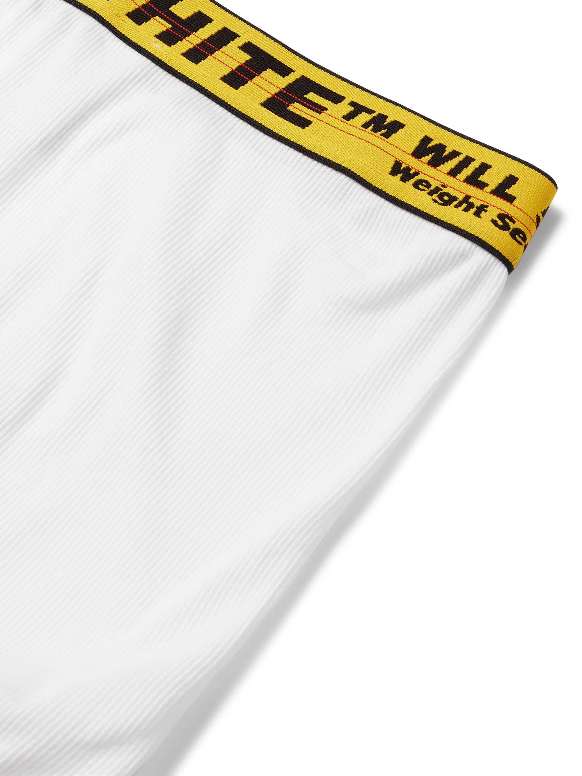 Off-White Ribbed Stretch-Cotton Boxer Briefs
