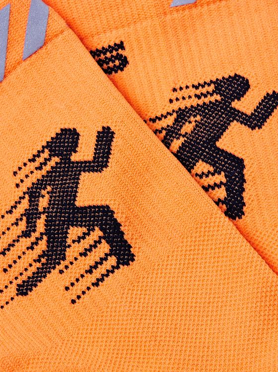 Off-White Intarsia Stretch-Knit Socks