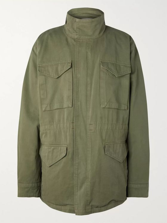 Fear of God Oversized Cotton-Twill PrimaLoft Hooded Parka