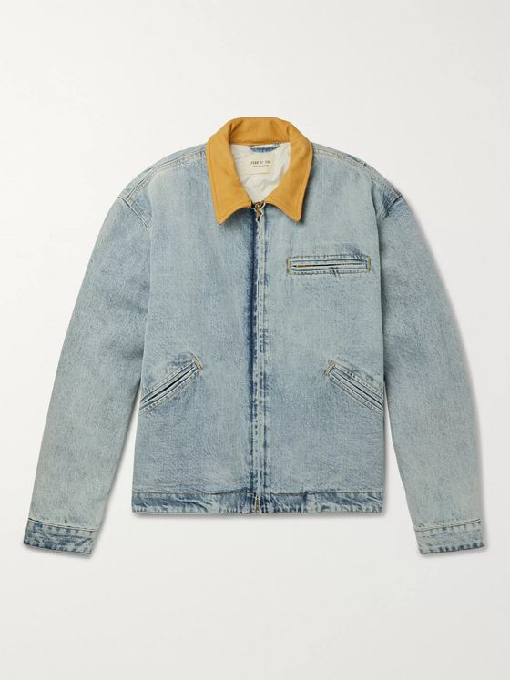 Fear of God Suede-Trimmed Denim PrimaLoft Jacket