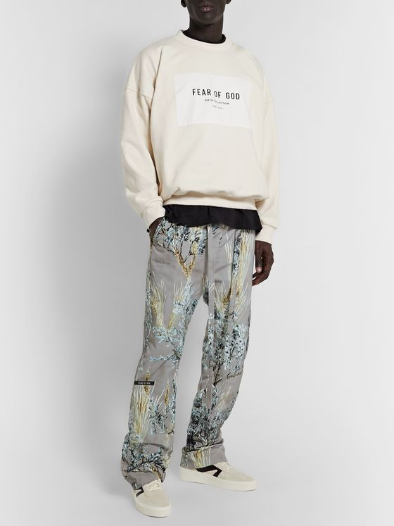 Fear of God Belted Printed Nylon-Twill Trousers