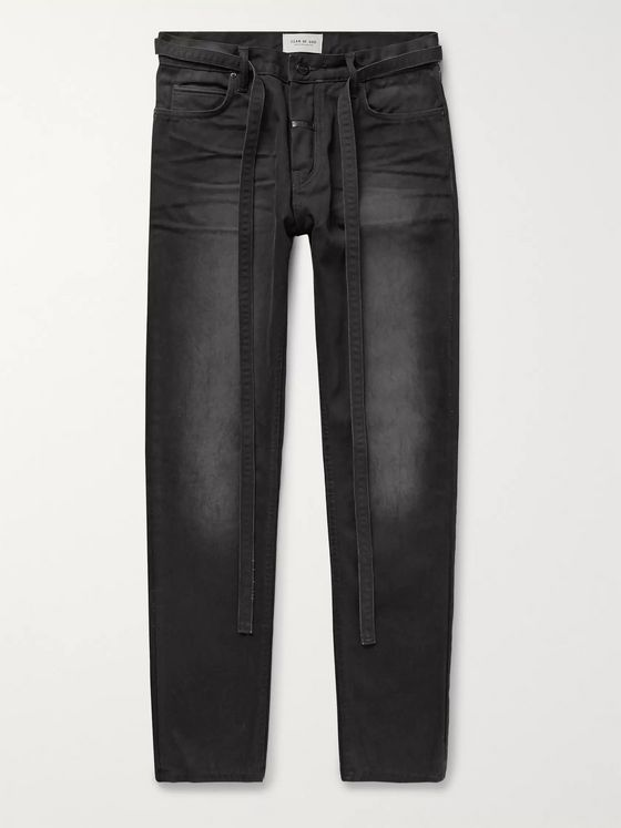 Fear of God Slim-Fit Belted Cotton-Canvas Jeans