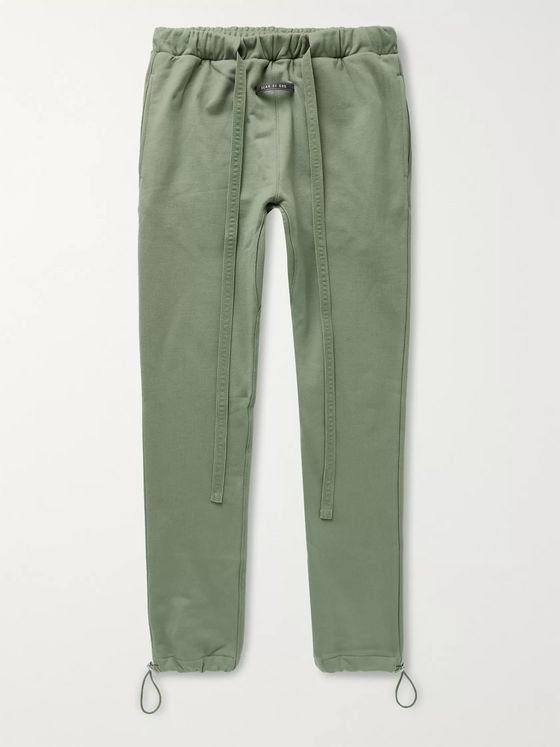 Fear of God Tapered Belted Loopback Cotton-Jersey Sweatpants