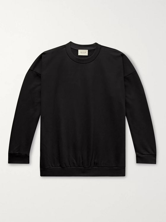 Fear of God Oversized Logo-Print Loopback Cotton-Jersey Sweatshirt