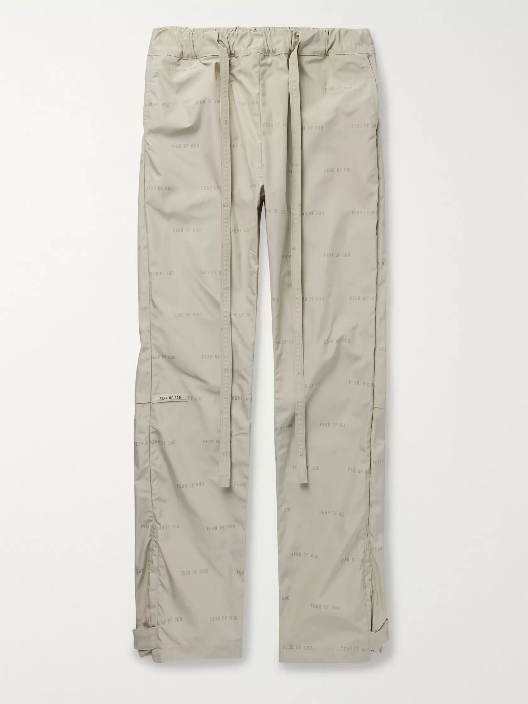 Fear of God Belted Logo-Print Nylon Trousers
