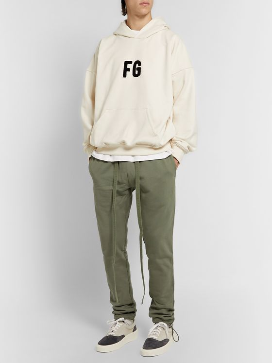 Fear of God Oversized Logo-Appliquéd Loopback Cotton-Jersey Hoodie
