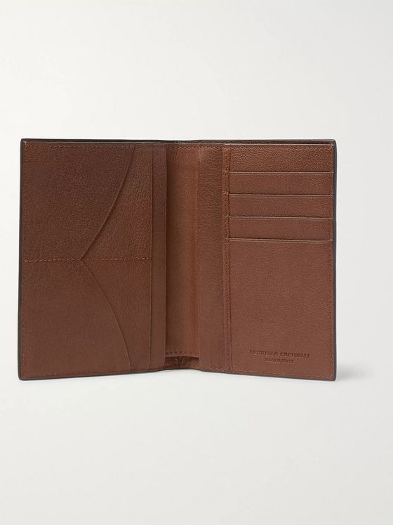 Brunello Cucinelli Full-Grain Leather Passport Cover