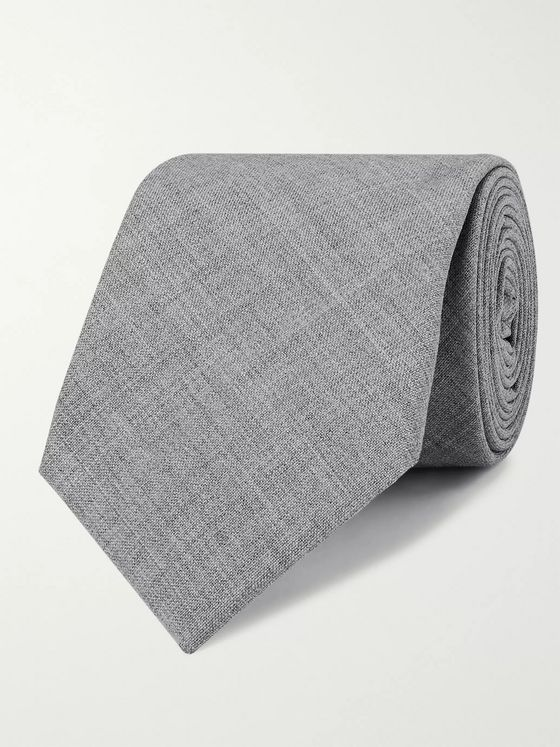 Brunello Cucinelli 7cm Mélange Virgin Wool Tie