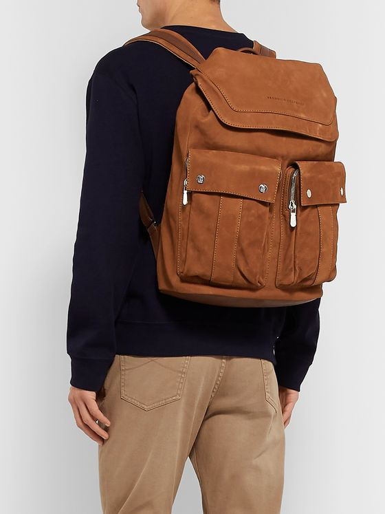 Brunello Cucinelli Nubuck Backpack