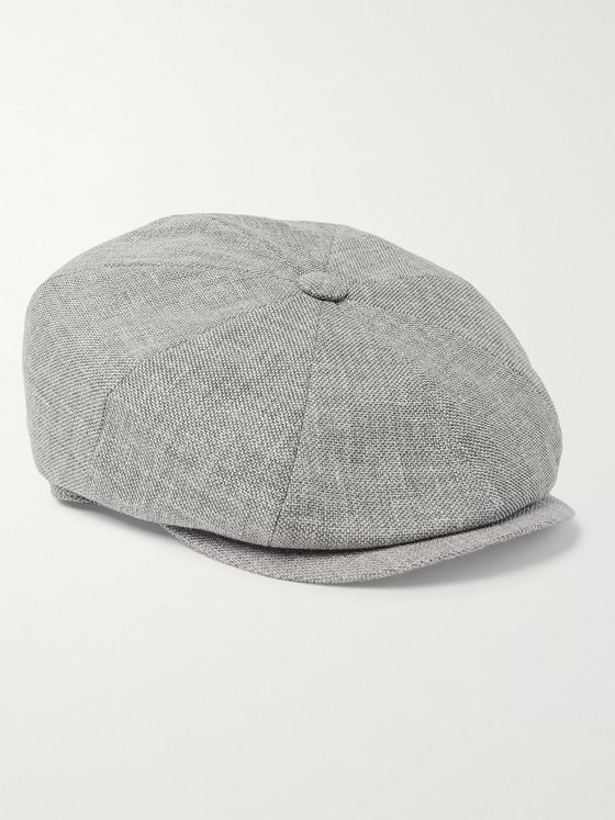 Brunello Cucinelli Linen, Wool and Silk-Blend Tweed Flat Cap