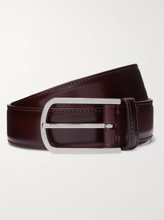 Brunello Cucinelli 3cm Dark-Brown Leather Belt