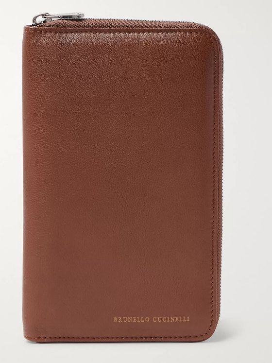 Brunello Cucinelli Leather Zip-Around Wallet