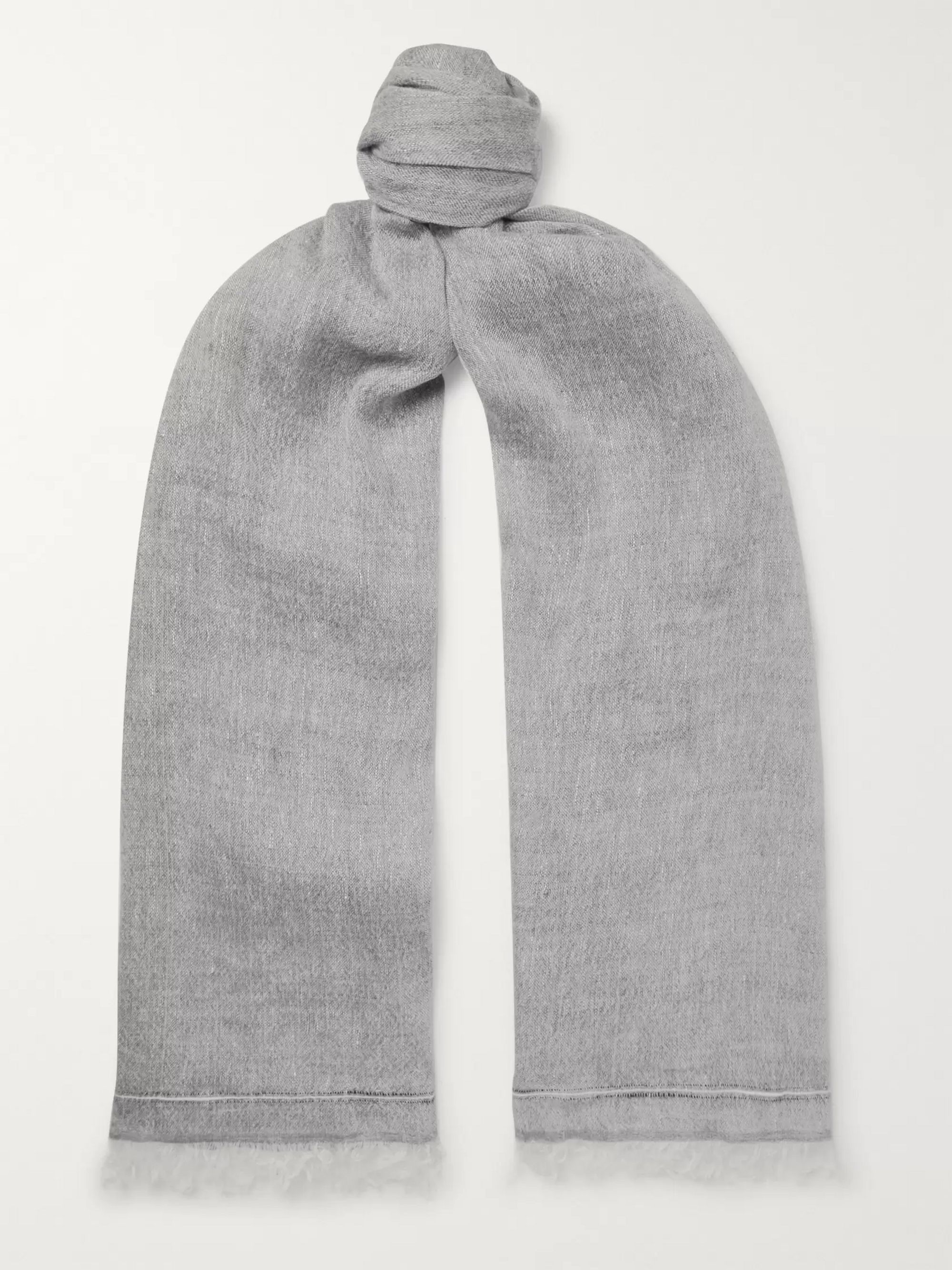 Brunello Cucinelli Linen and Cashmere-Blend Scarf